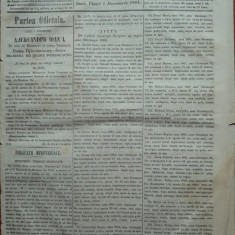 Principatele Unite , Monitorul oficial al Moldovei , Iasi , nr. 335 , 1861