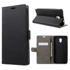 Husa Flip Cu Stand Lenovo P2 Neagra - Husa Telefon, Piele Ecologica, Cu clapeta