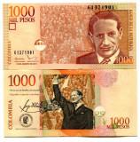 COLUMBIA 1.000 pesos 2015 UNC