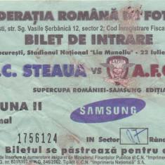 Bilet meci fotbal STEAUA - RAPID BUCURESTI (Supercupa Romaniei 2006)