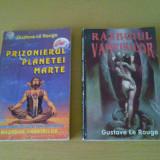 Lot carte gustave le rouge razboiul vampirilor, prizonierul planetei marte