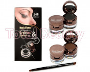 123123Set 2 in 1 + Eyeliner Gel 2 culori + 2 x pudra sprancene + pensula aplicare
