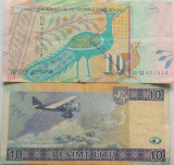 Lot/Set 2 Bancnote Diferite MACEDONIA + LITUANIA *Cod 475