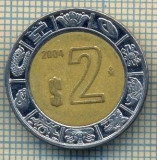 10889 MONEDA- MEXIC - 2 PESOS -anul 2004 -STAREA CARE SE VEDE, America de Nord