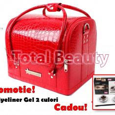 Geanta Produse Cosmetice Fraulein38, culoarea Rosu Lacuit - Geanta cosmetice