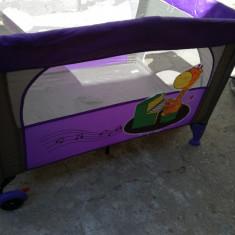 Pătuț pliabil - Patut pliant bebelusi, 115X85cm, Multicolor