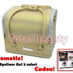 Geanta Produse Cosmetice Fraulein38, Golden Pattern - Geanta cosmetice