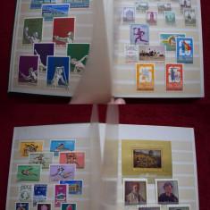 TS073 Clasor cu timbre stampilate Romania a5 serii complete