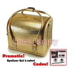 Geanta Produse Cosmetice Fraulein38, culoarea Gold Mist - Geanta cosmetice