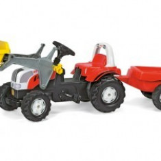 Tractor Cu pedale Si Remorca 2-6ani ROLLY Alb Rosu 2 Rolly Toys