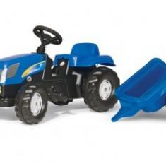 Tractor Cu Pedale Si Remorca ROLLY TOYS Albastru 2-6 ani