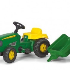 Tractor Cu Pedale Si Remorca Copii ROLLY TOYS Verde 2-6 ani