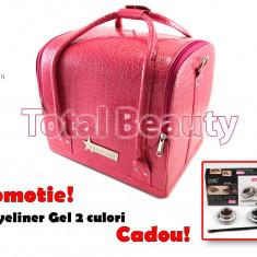Geanta Produse Cosmetice Fraulein38, culoarea Pink - Geanta cosmetice