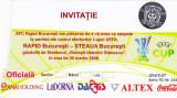 Invitatie fotbal RAPID BUCURESTI-STEAUA (30.03.2006 sferturi Cupa UEFA)