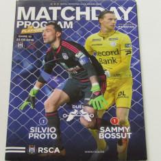 Program meci fotbal ANDERLECHT - ZULTE WAREGEM 22.05.2016 (contine poster)