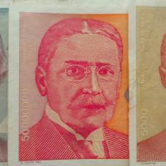 Lot/Set 3 Bancnote Diferite YUGOSLAVIA 1993 Xf/a.unc *Cod 469 - bancnota europa