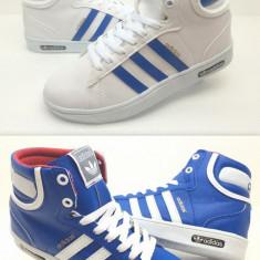 Ghete Adidas Monaco - Adidasi dama, Culoare: Alb, Albastru, Marime: 36, 37, 38, 39