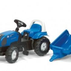Tractor Cu Pedale Si Remorca ROLLY Albastru 2-6 ani Rolly Toys