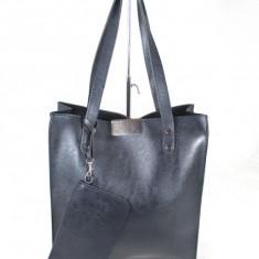 Geanta dama mare bleumarin cu portofel+CADOU, Culoare: Din imagine