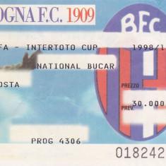 Bilet meci fotbal BOLOGNA - FC NATIONAL Bucuresti (Cupa Intertoto 18.07.1998)