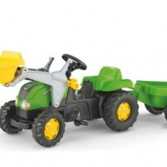 Tractor Cu Pedale Si Remorca Rolly Toys Verde 2-6 ani