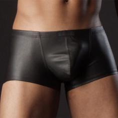 Lenjerie barbati piele eco / Men Underwear Leather look - Chiloti barbati, Marime: M, Culoare: Negru