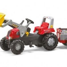 Tractoras 3-8Ani Cu Remorca si pedale Rolly Toys