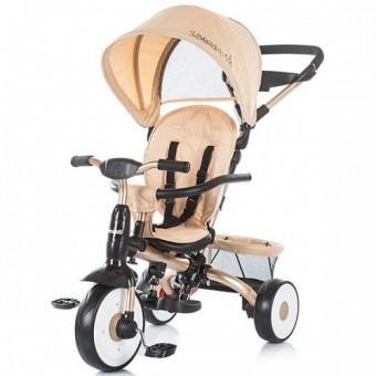 Tricicleta copii 1-5 Ani Chipolino Urban Beige foto mare