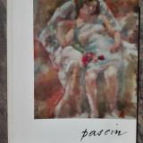 Jules Pascin(1885-1930) - Catalog retrospectiva/carton invitatie litografiat RAR