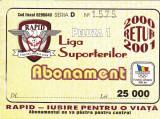 Abonament fotbal - RAPID BUCURESTI (retur 2000/2001)