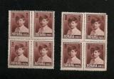 Lp 77g - Mihai I, 5 lei - format mare fara filigran - 5 blocuri de 4 timbre, Nestampilat