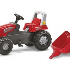 Tractor Cu Pedale Si Remorca 3-8 ani Rolly Toys Red