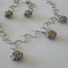 Set colier si cercei argint vintage -1946 - Set bijuterii argint