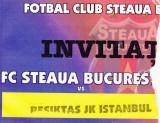 Invitatie meci fotbal STEAUA Bucuresti - BESIKTAS (Europa League 25.11.2004)