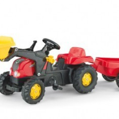 Tractor Cu Pedale Si Remorca Copii ROLLY Rosu 2-6 ani Rolly Toys