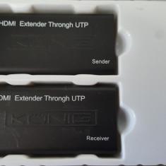 HDMI extender 60 via UTP cable