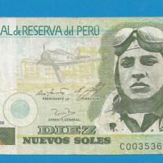 Peru 10 soles 2005 - bancnota america