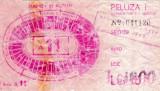 Bilet meci fotbal DINAMO Bucuresti - CAGLIARI (Cupa UEFA 1993)