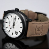 Ceas elegant negru CURREN TIME SAILING-TOUCH cadran de 4.5cm - Ceas barbatesc Curren, Lux - elegant, Quartz, Inox, Piele, Data