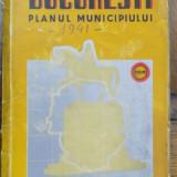 Bucuresti, Planul municipiului, 1941 - Carte veche