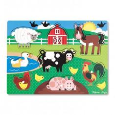 Puzzle Melissa & Doug Din Lemn Ferma Animalelor