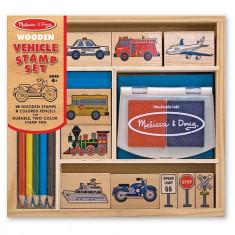 Set De Stampile Vehicule Melissa And Doug - Jocuri arta si creatie Melissa & Doug