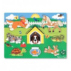 Puzzle Melissa & Doug Din Lemn Animalele De Companie