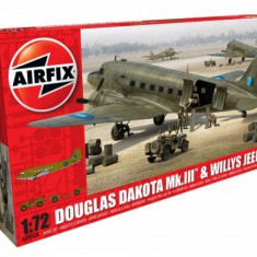 Airfix Douglas Dakota Mkiii Willys Jeep - Set de constructie