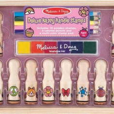 Set Stampile Happy Handle Deluxe Melissa And Doug - Jocuri arta si creatie Melissa & Doug