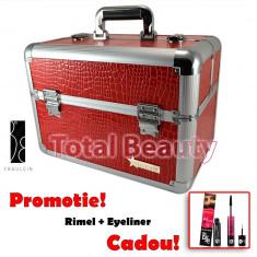 Geanta Produse Cosmetice din aluminium Fraulein38, culoarea Red - Geanta cosmetice
