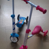 Trotineta/tricicleta 2in1 /2-5ani Nou sigilat.este roz si albastru - Trotineta copii