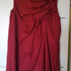 Rochie Zara - Rochie de zi, Marime: S, Culoare: Bordeaux