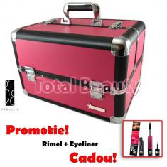 Geanta Produse Cosmetice din aluminium Fraulein38, culoarea Hot Pink - Geanta cosmetice