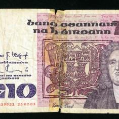 IRLANDA 10 Pounds 25.02.1983 - stare conform foto - bancnota europa